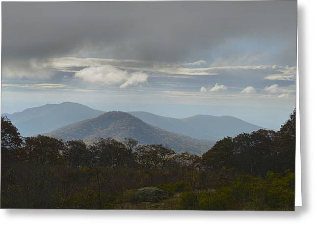 Greeting Card featuring the photograph Blue Ridge Mountain Light by Stephen  Vecchiotti