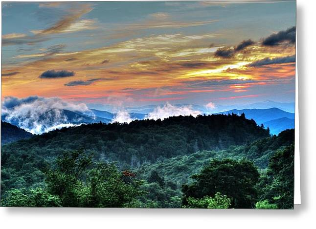Blue Ridge Mountain Sunrise  Greeting Card