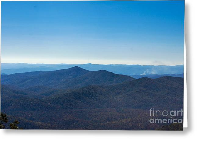 Greeting Card featuring the painting Blue Ridge Mountains by Debra Crank