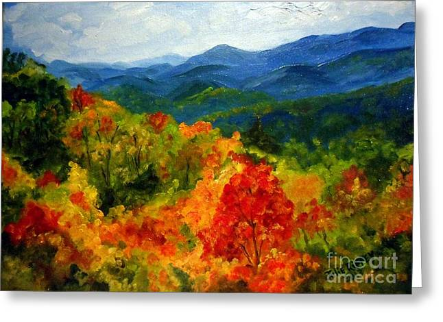 Blue Ridge Mountains In Fall Greeting Card