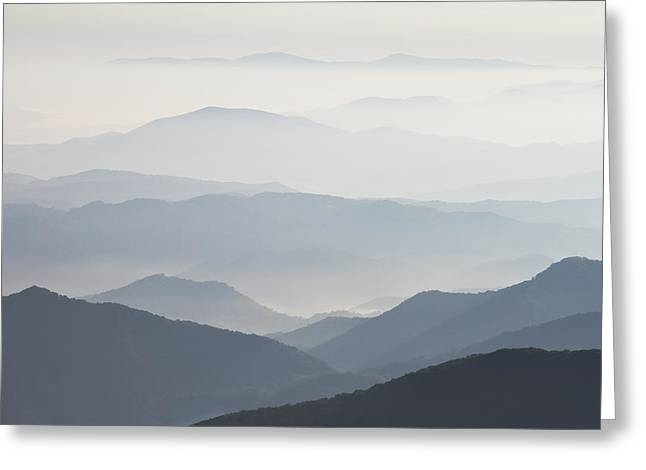 Blue Ridge Mountains View From Roan Mountain Balds Greeting Card