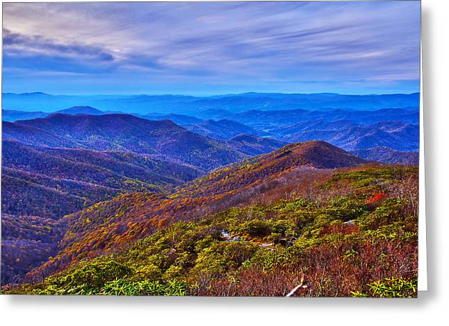 Greeting Card featuring the photograph Blue Ridge Parkway by Alex Grichenko