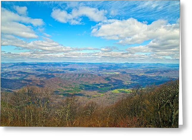 Blue Ridge Parkway Beautiful View Greeting Card