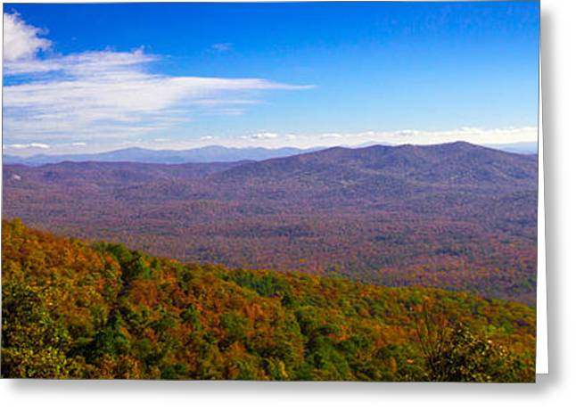Greeting Card featuring the photograph Blue Ridge Parkway by Marion Johnson