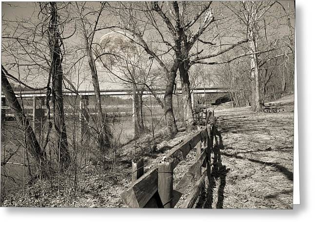 Blue Ridge Parkway Mystic Greeting Card by Betsy Knapp