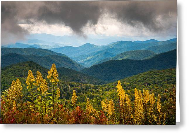 Blue Ridge Parkway Nc Photography North Carolina Scenic Landscape Greeting Card