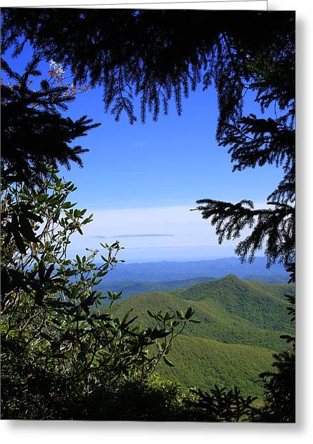 Blue Ridge Parkway Norh Carolina Greeting Card by Mountains to the Sea Photo