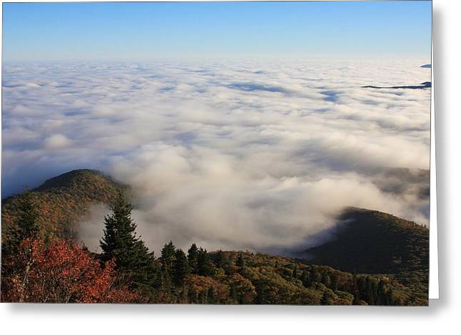 Blue Ridge Parkway Sea Of Clouds Near Graveyard Fields Greeting Card