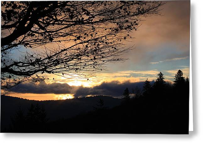 Blue Ridge Parkway Sunrise Greeting Card by Mountains to the Sea Photo