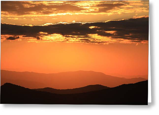 Blue Ridge Parkway Sunset-north Carolina Greeting Card by Mountains to the Sea Photo