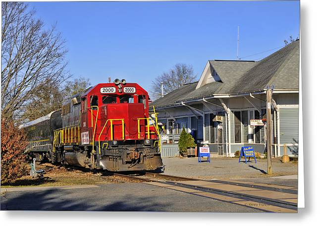 Blue Ridge Scenic Railway Greeting Card by Kenny Francis