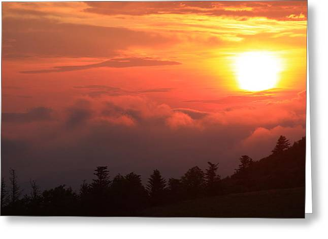 Blue Ridge Sunrise Great Balsam Mountains Greeting Card