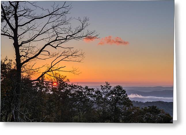 Greeting Card featuring the photograph Blue Ridge Sunrise by Gregg Southard