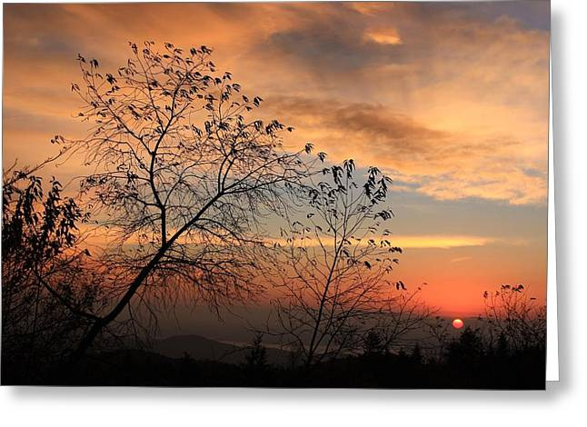 Blue Ridge Sunrise Greeting Card by Mountains to the Sea Photo