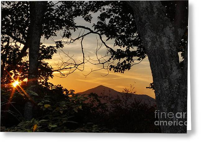 Blue Ridge Sunset Greeting Card by Jonathan Welch
