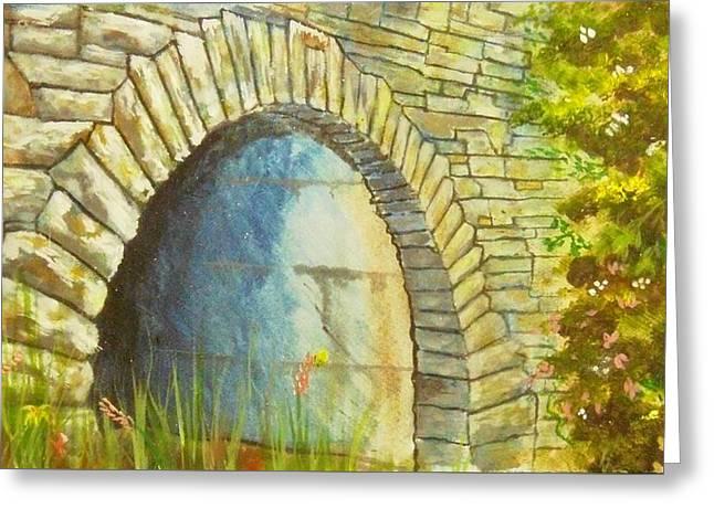 Blue Ridge Tunnel Greeting Card