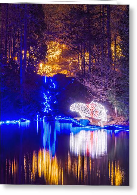 Blue River - Crop Greeting Card