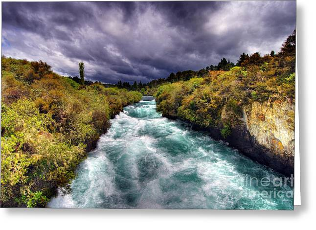 Blue River Greeting Card by Colin Woods