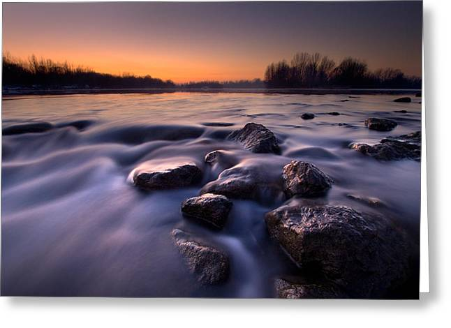 Blue River Greeting Card by Davorin Mance