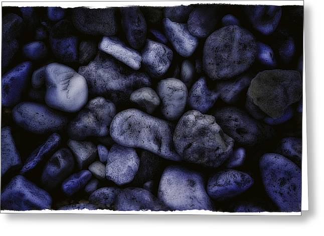 Blue Rocks Greeting Card by Jerry Golab