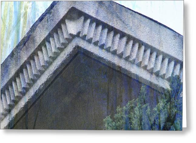 Greeting Card featuring the photograph Blue Rooftop by John Fish