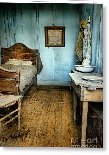 Blue Room Greeting Card by Jill Battaglia