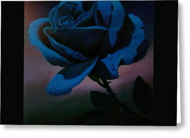 Blue Rose Greeting Card by Blue Sky