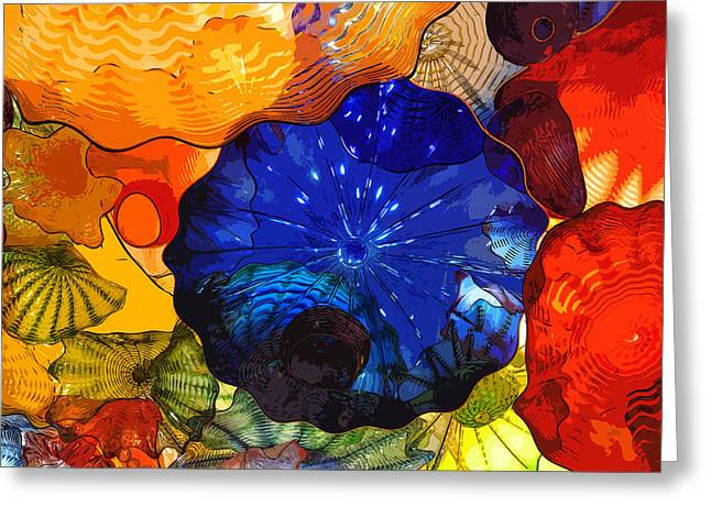 Greeting Card featuring the digital art Blue Rose by Kirt Tisdale