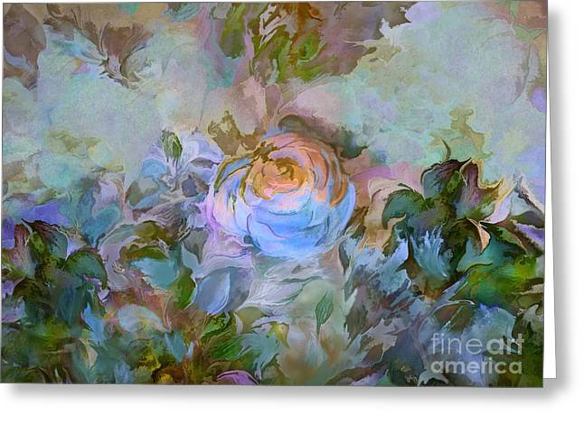 Blue Rose Greeting Card by Ursula Freer