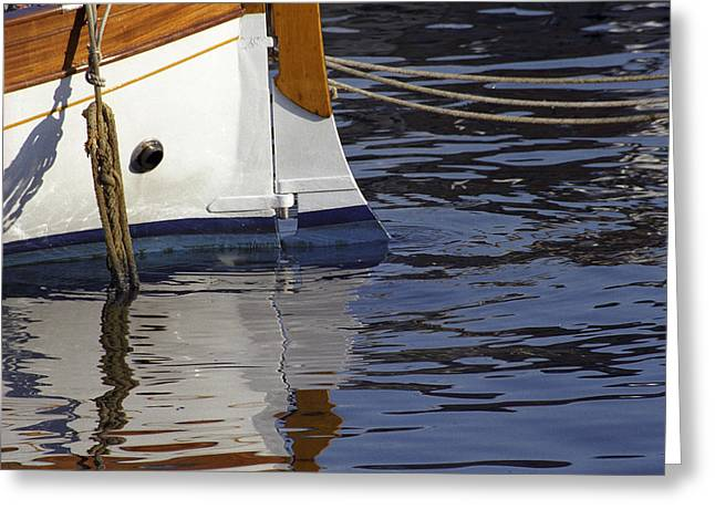 Blue Rudder Greeting Card