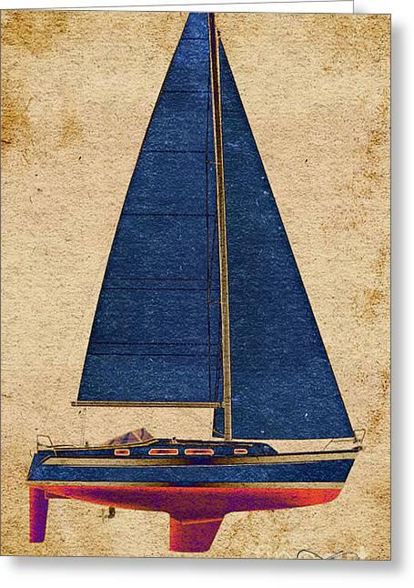 Blue Sails Greeting Card