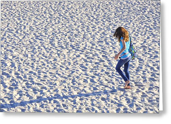 Blue Sand Greeting Card