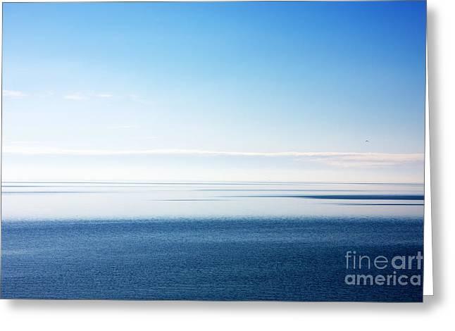 Blue Sea Scene Greeting Card