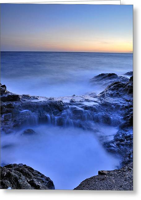 Blue Seaside Greeting Card by Guido Montanes Castillo