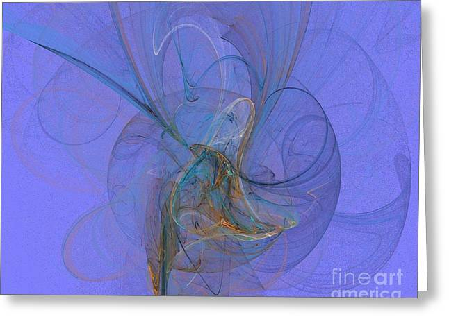 Blue Shell 1 Greeting Card by Jeanne Liander