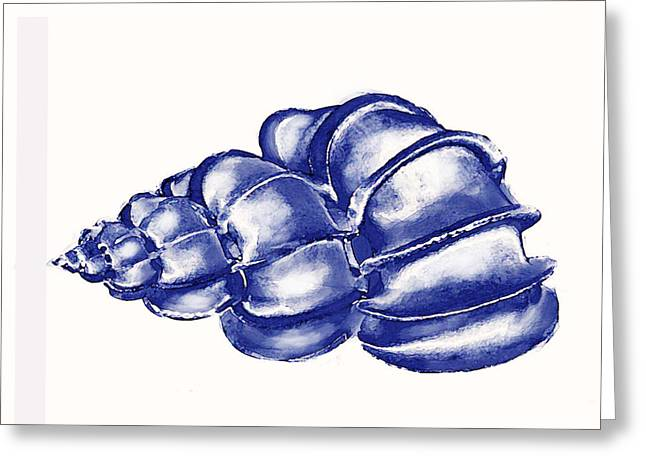 Blue Shell Greeting Card by Jane Schnetlage
