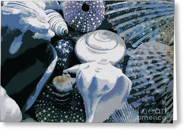 Blue Shells Greeting Card by Janice Westerberg