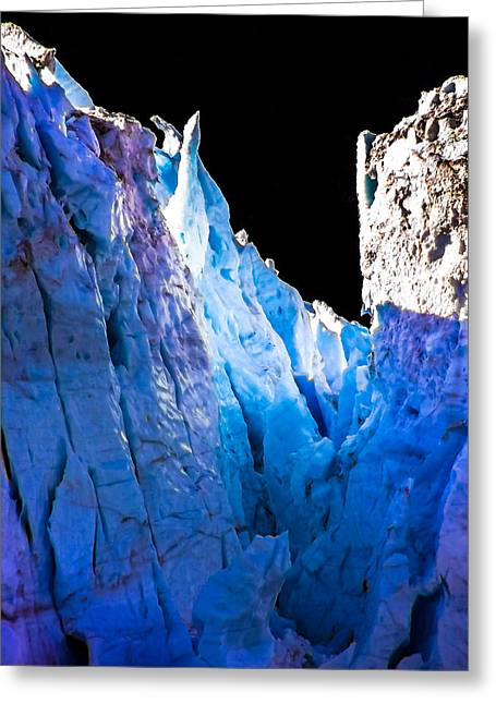 Blue Shivers Greeting Card
