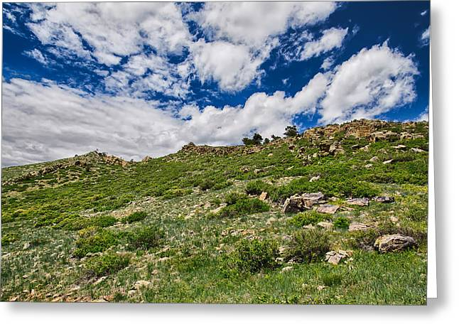 Blue Skies Greeting Card by Tony Boyajian