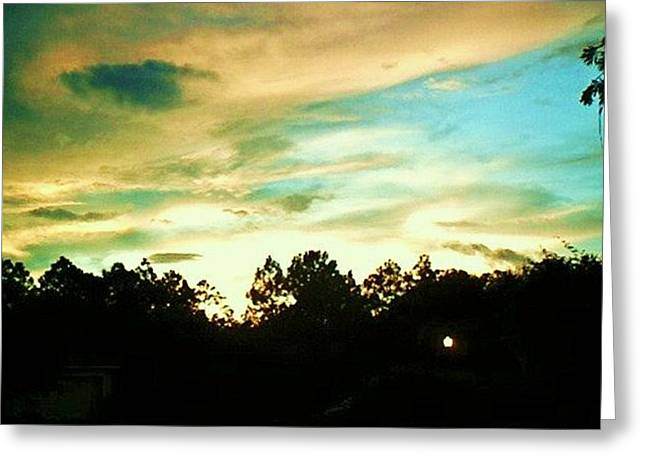 Greeting Card featuring the photograph Blue Skies by Yolanda Rodriguez