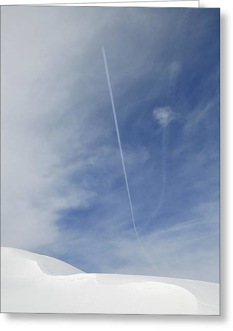 Blue Sky And Snow Greeting Card by Matthias Hauser