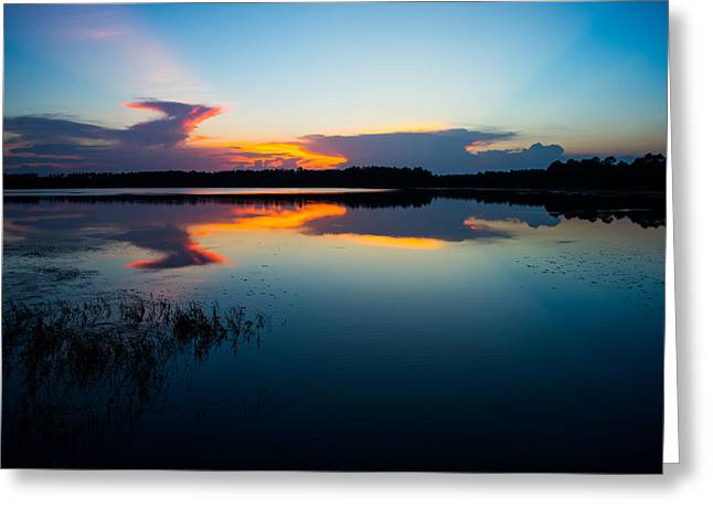 Blue Sky And Water Greeting Card by Parker Cunningham