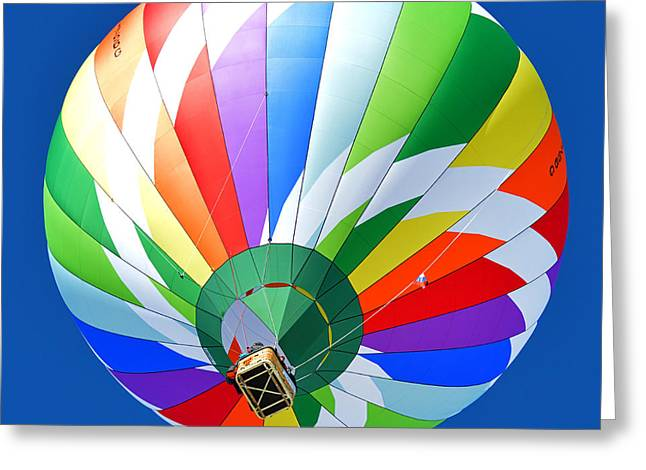 Blue Sky Balloon Greeting Card by Stephen Richards