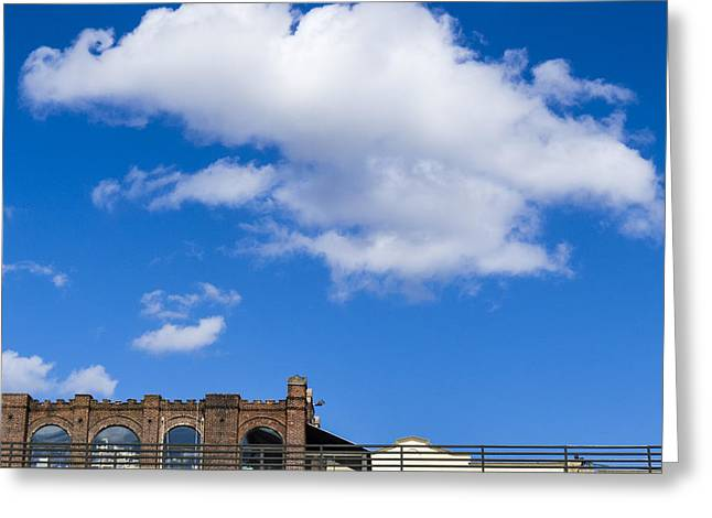 Blue Sky Bricks Greeting Card by Frank Winters