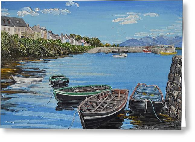 Blue Sky Day Roundstone Connemara Greeting Card