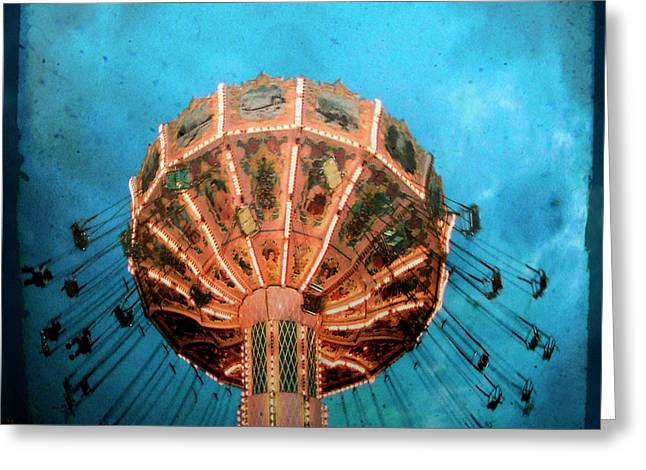 Blue Sky Swings Greeting Card by Gothicrow Images