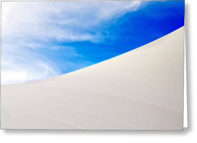 Blue Sky White Canvas Greeting Card by Kevin Anderson