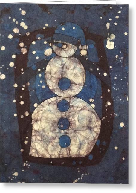 Blue Snowman 1 Greeting Card