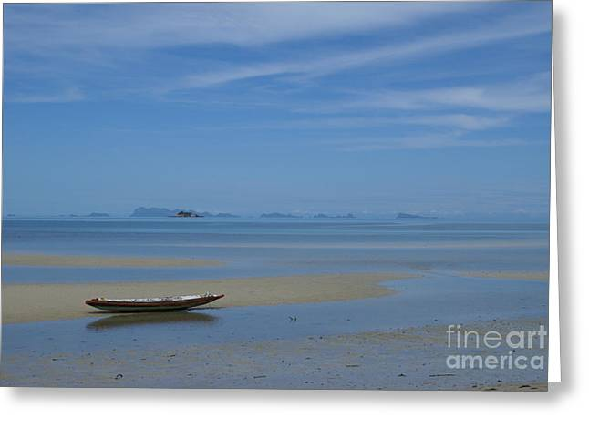 Blue Solitude Greeting Card by Gregory Smith
