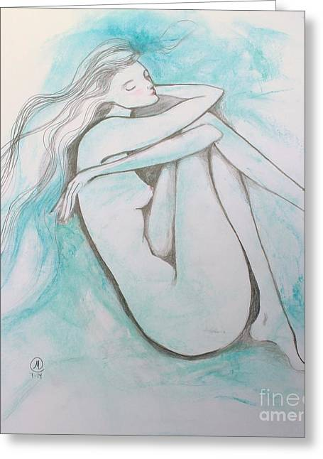 Blue Solitude Greeting Card
